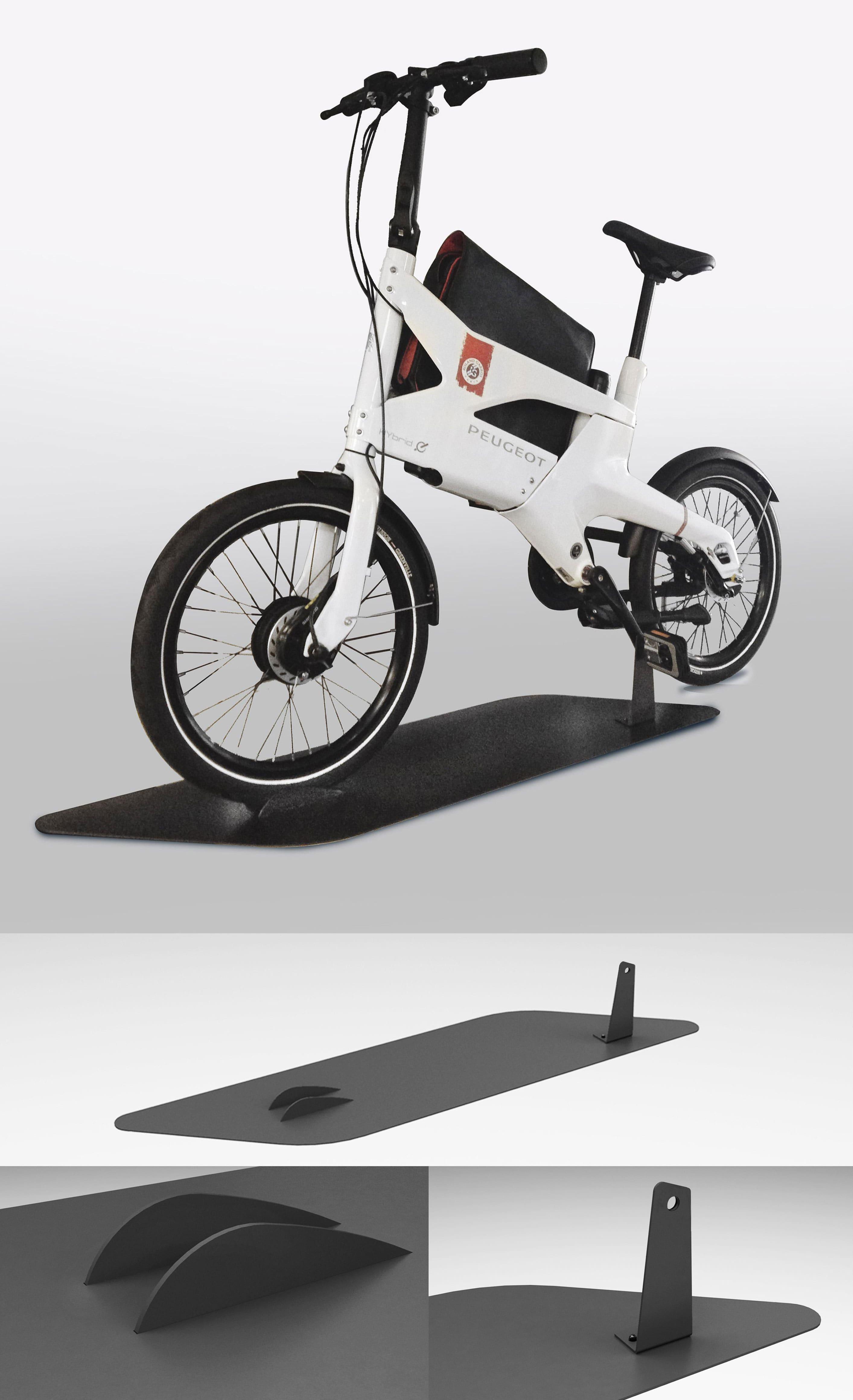 Des supports vélos en fabrication pour Peugeot