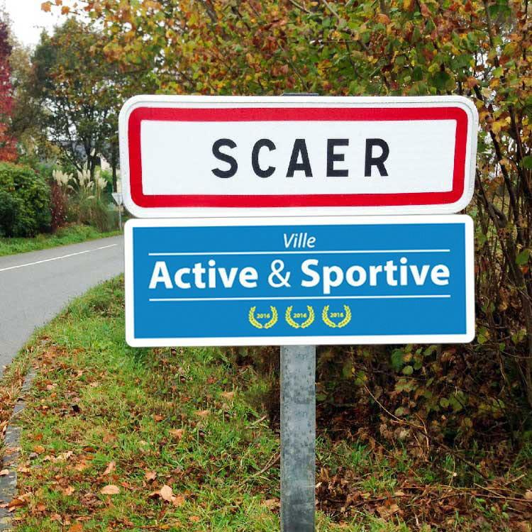 panneau signalisation label ville active et sportive