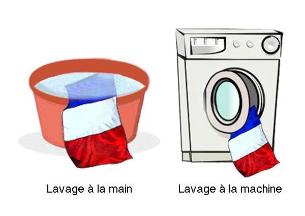 laver un drapeau