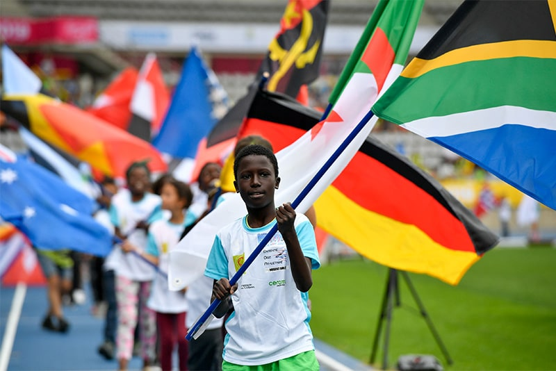 drapeaux des nations pour le HOP