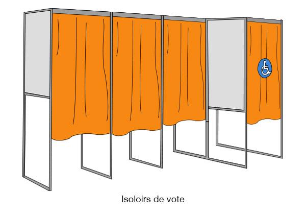 isoloirs de vote