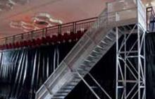 Escalier mobile pour gradin