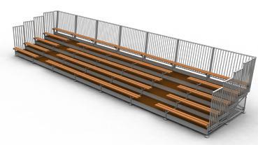 plan 3D tribune démontable- ©Doublet