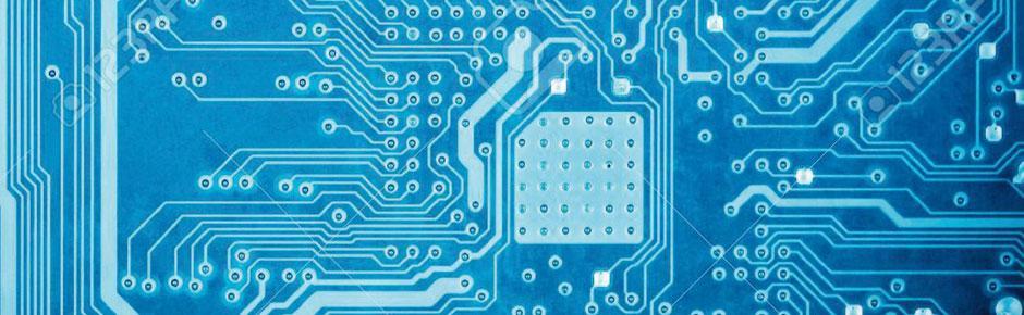 Circuit imprime bleu