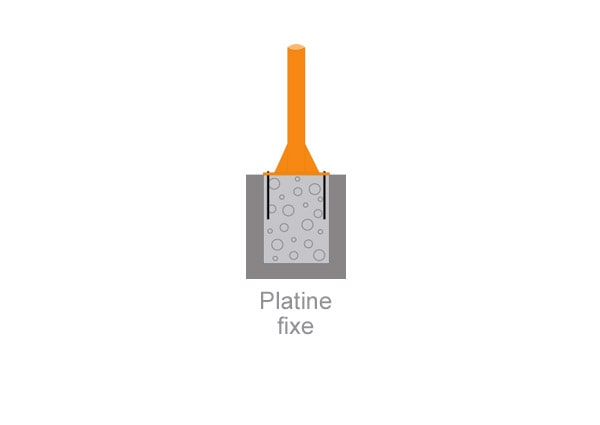 platine fixe