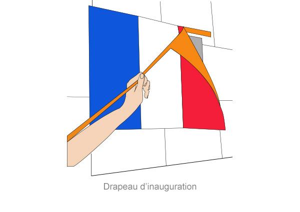 drapeau d'inauguration