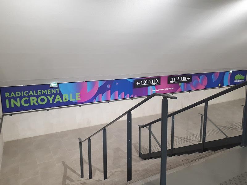 Doublet réalise la signalétique de l'Arena de Paris La Défense