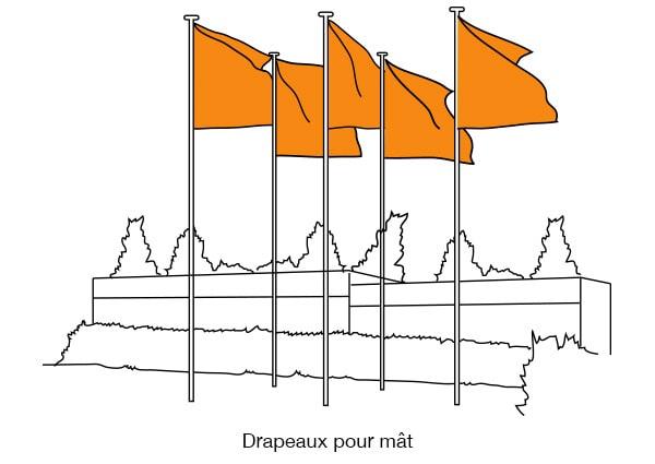 drapeaux pour mât