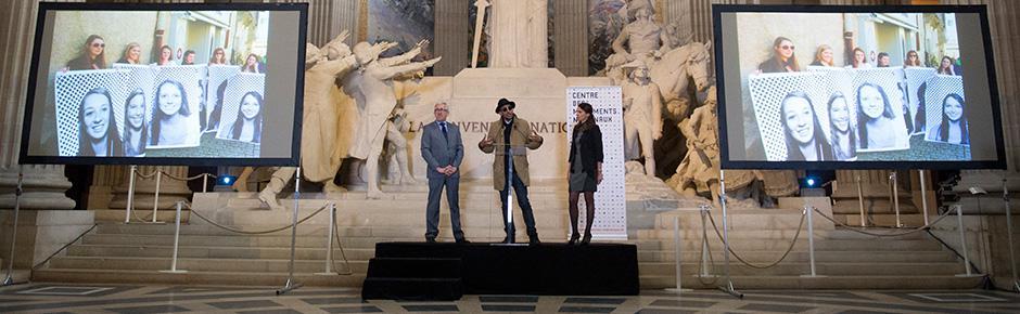 Au Panthéon ! une œuvre de JR Artist