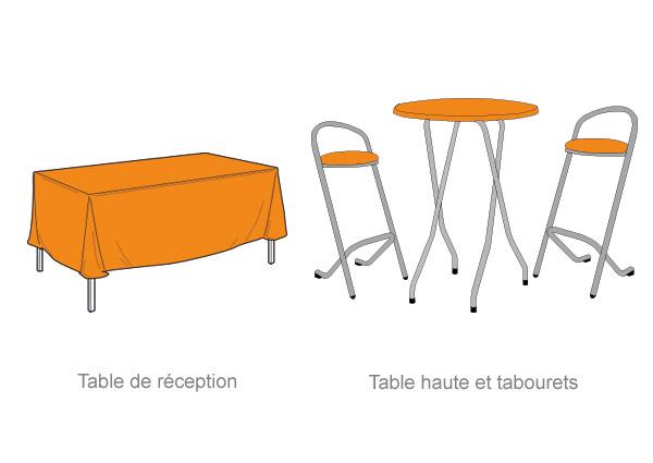 table haute et tabourets