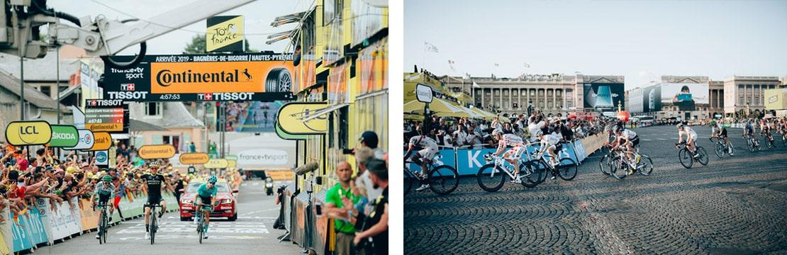 les cyclistes du TDF