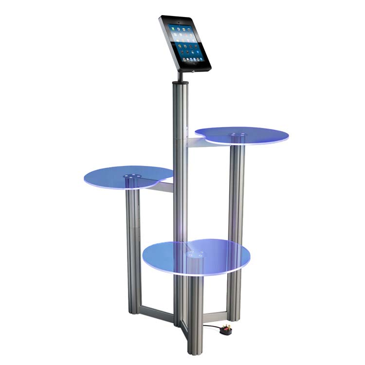 Comptoir PLV Ipad Touch bleu