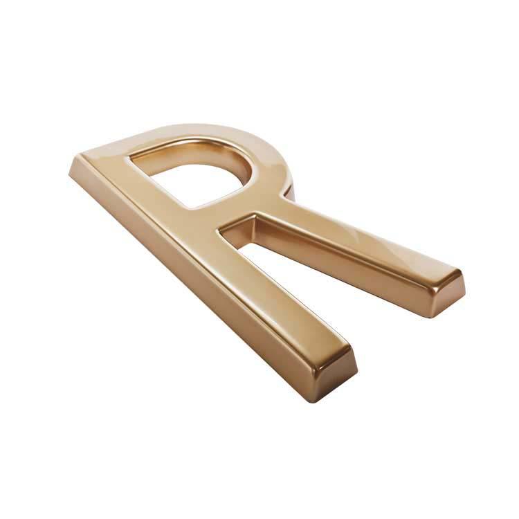 Lettre Baton Majuscule dorée de 20 cm