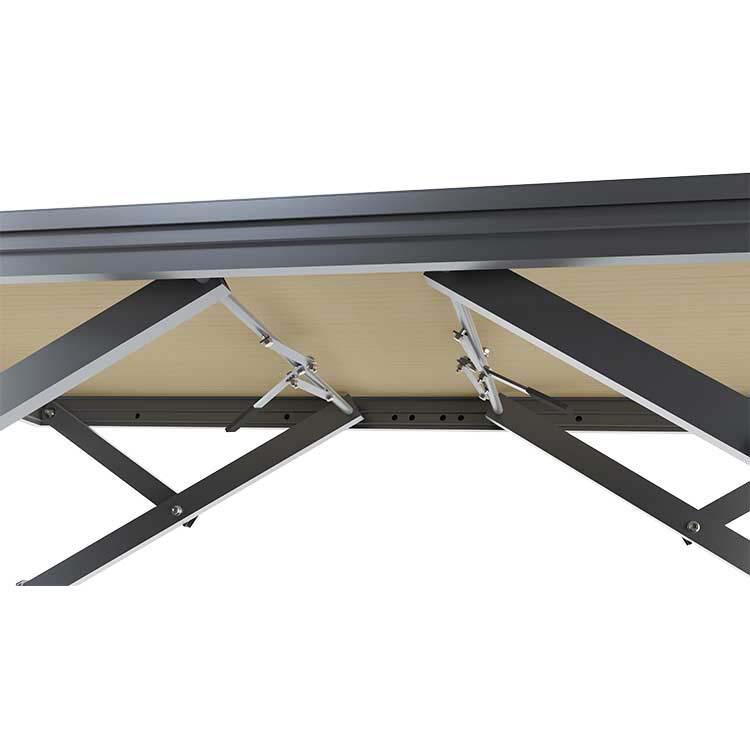 système de fixation ciseaux podium praticable