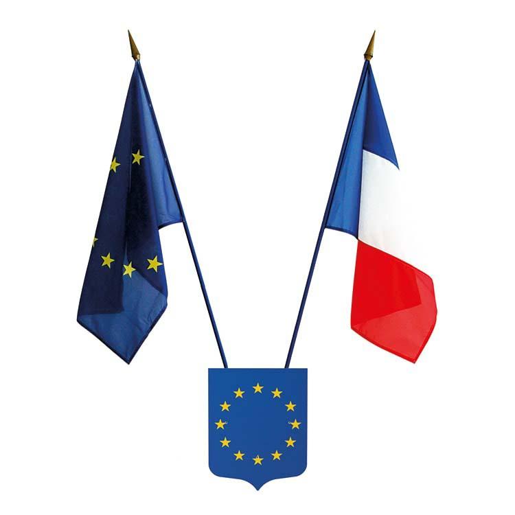 Écusson porte drapeaux Union Européenne