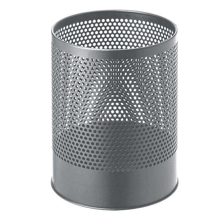Corbeille à papier Perfo gris - 14 litres