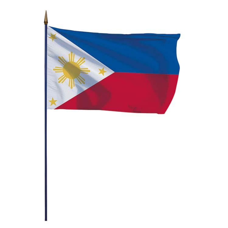 Drapeau Philippines sur hampe