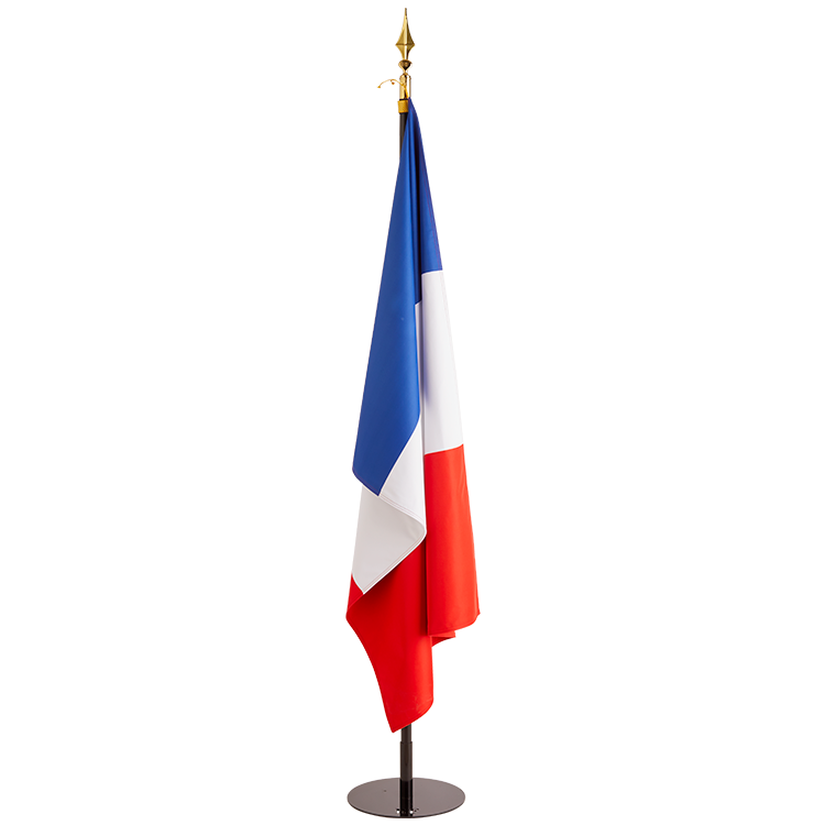 Drapeau de la France sur socle