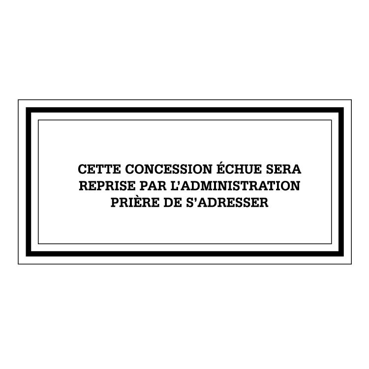 Plaque noire pour concession