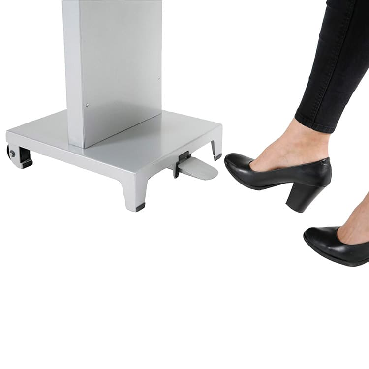 Pédale mécanique borne gel hauteur ajustable