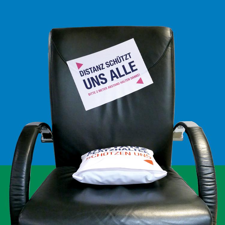 Stuhl aufkleber