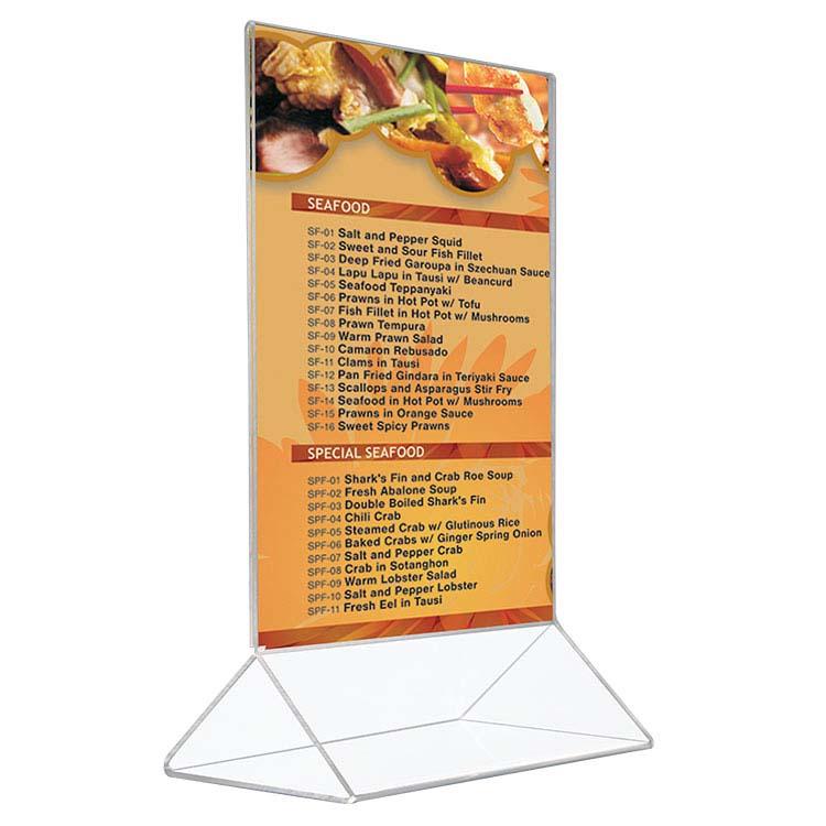 Porte affiche de comptoir pour menu
