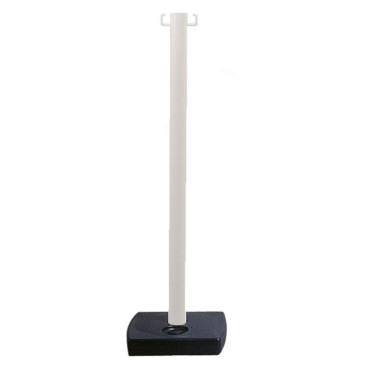 Poteau PVC à poser blanc