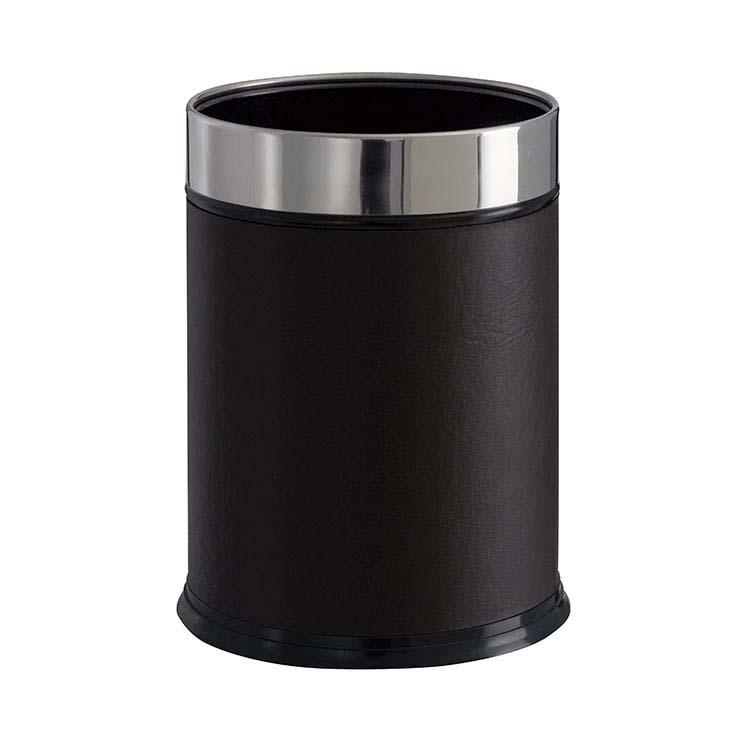 Corbeille à papier Leather cylindrique - 13 litres