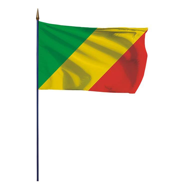 Drapeau Congo sur hampe