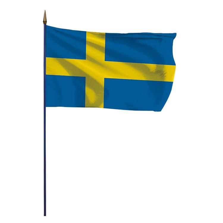Drapeau Suède sur hampe