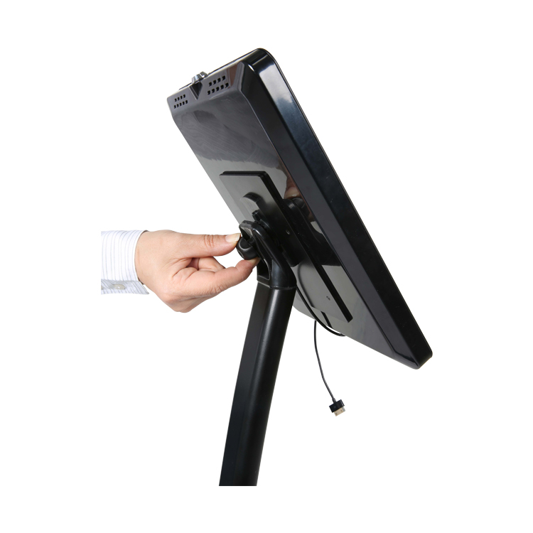 serrage tête rotative support tablette courbe