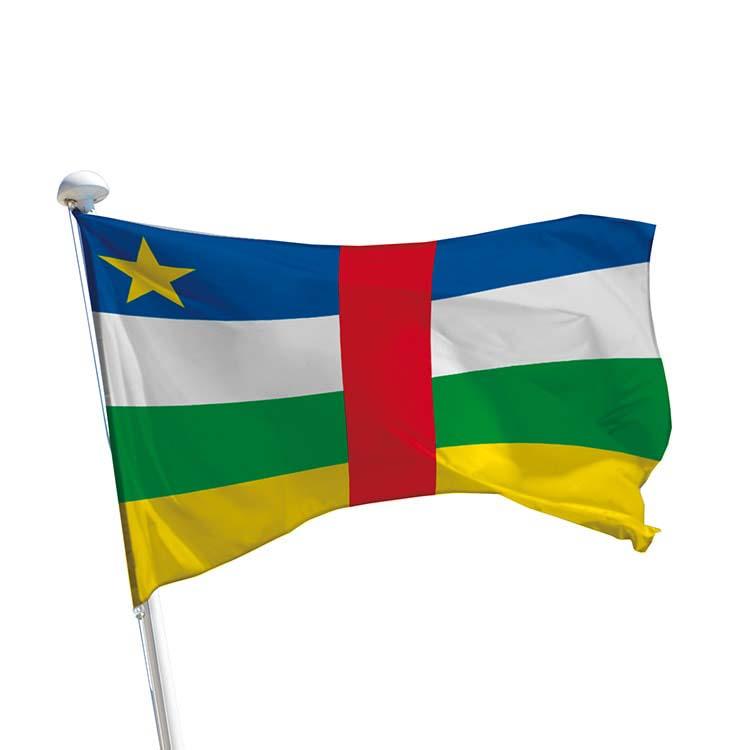 Drapeau Centrafrique pour mât