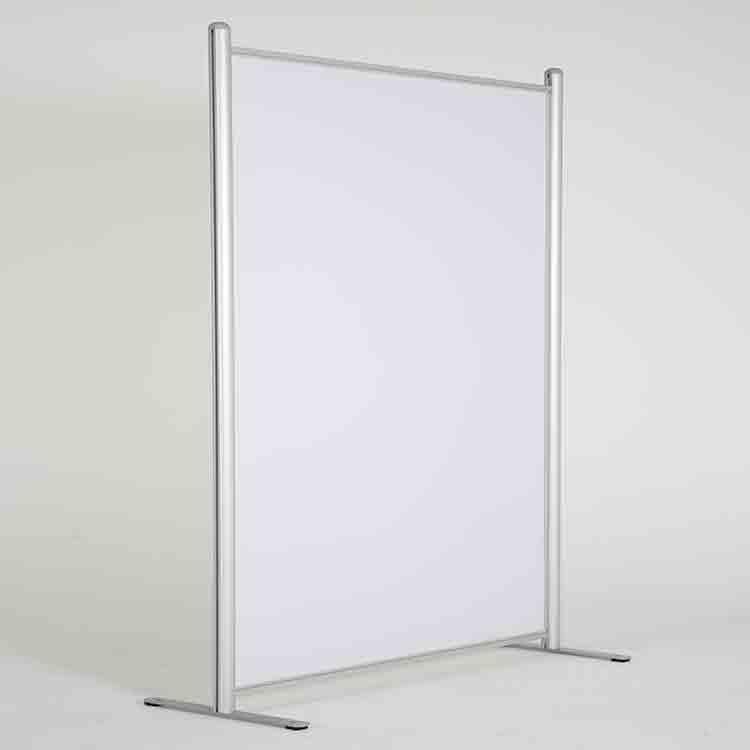 Paroi de séparation vitrée opaque