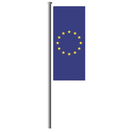 Europafahne hoch