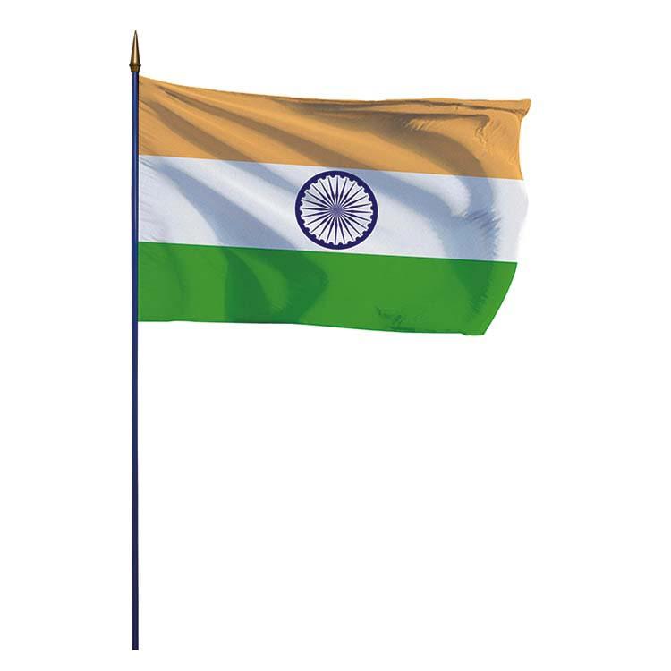 Drapeau Inde sur hampe