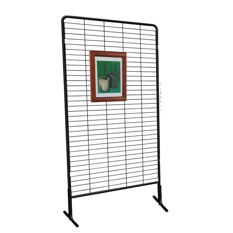 Panneaux grille d 39 exposition sur pieds labelexpo doublet for Panneau affichage exterieur sur pied