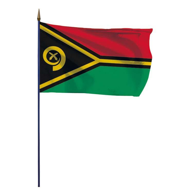 Drapeau Vanuatu sur hampe