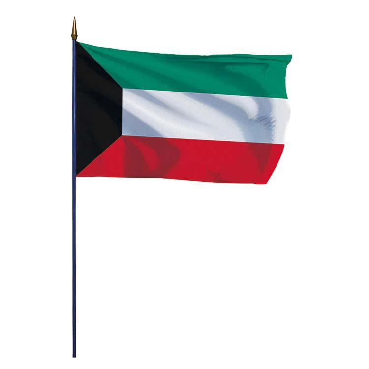 Drapeau Koweït sur hampe