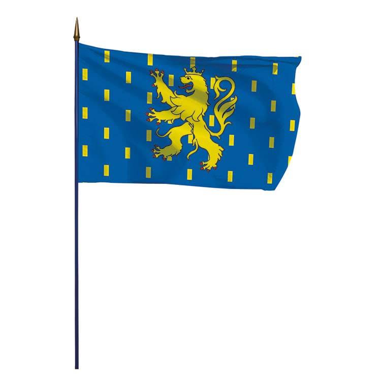 Drapeau province de Franche Comté sur hampe
