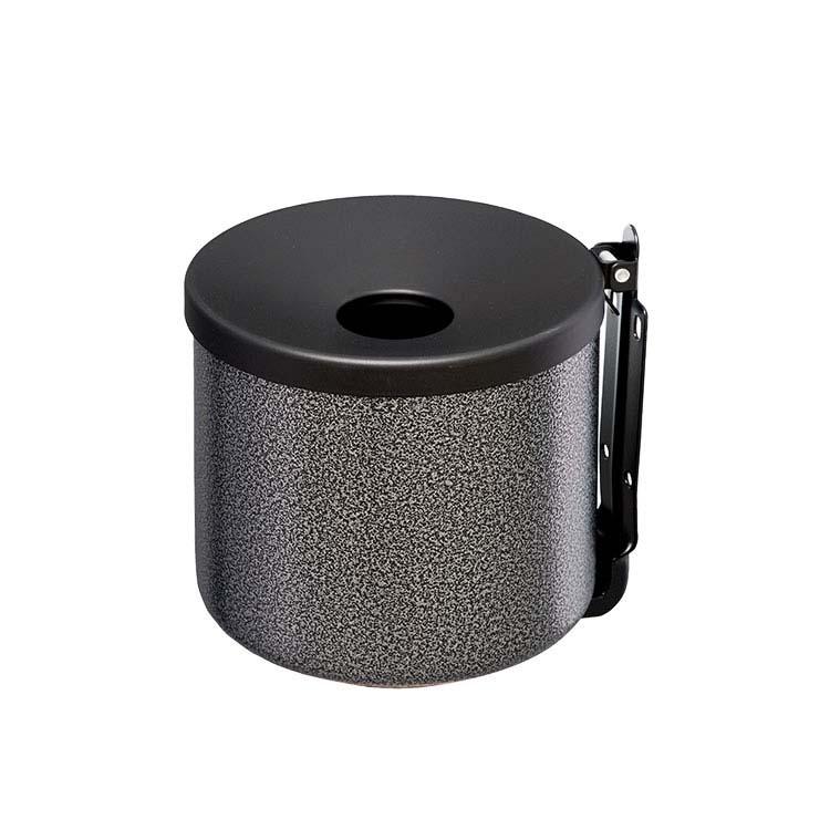 Cendrier cylindrique Gris martelé 0.5L