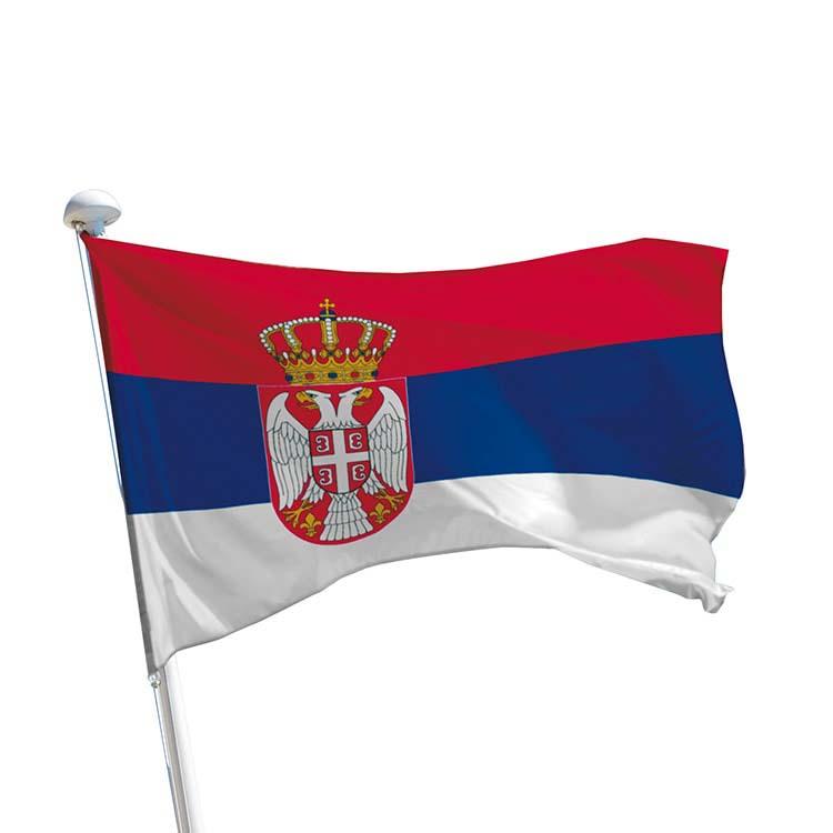 Drapeau Serbie pour mât