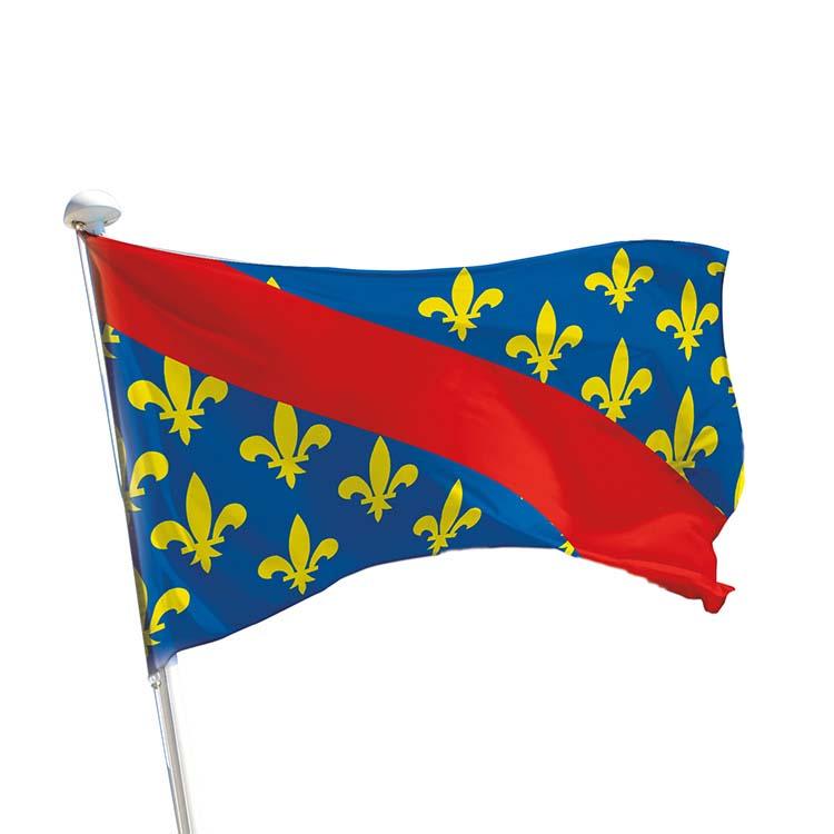 Drapeau province Bourbonnais pour mât