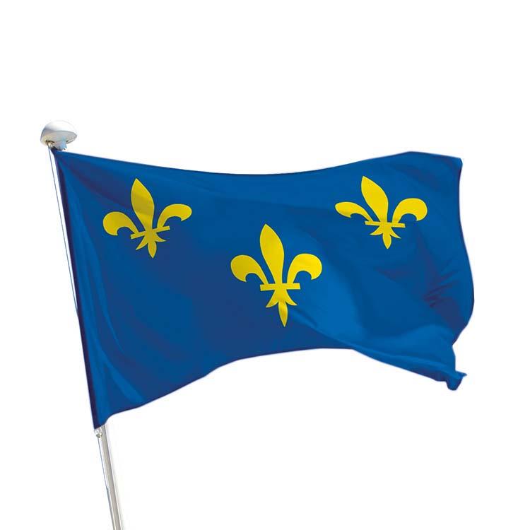 Drapeau province Île-de-France pour mât