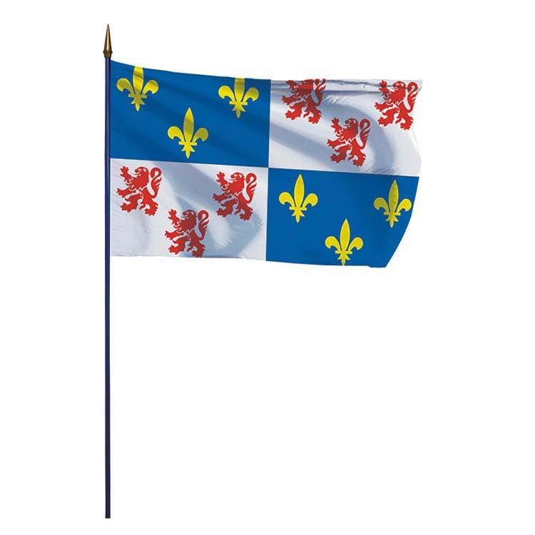 Drapeau province de Picardie sur hampe