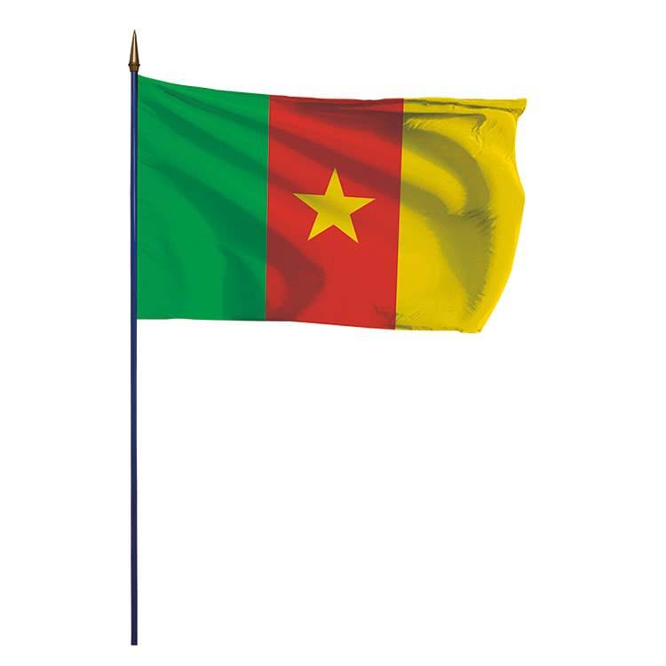 Drapeau Cameroun sur hampe