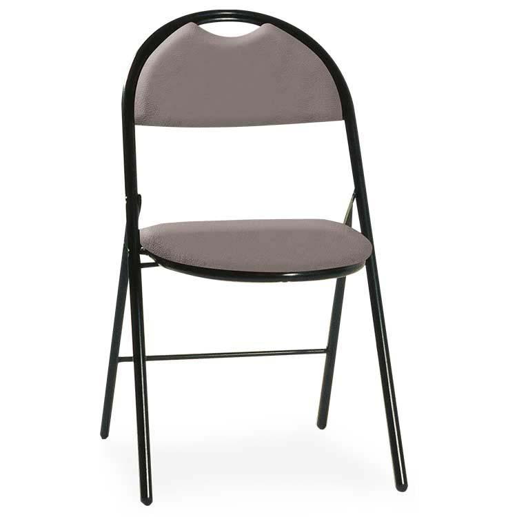 Chaise Roma vinyle assemblable M2 gris