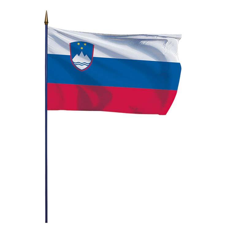 Drapeau Slovénie sur hampe