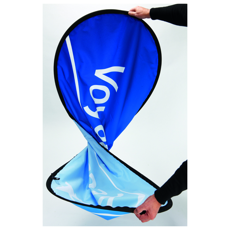 Pop-Out Banner oval gefaltet