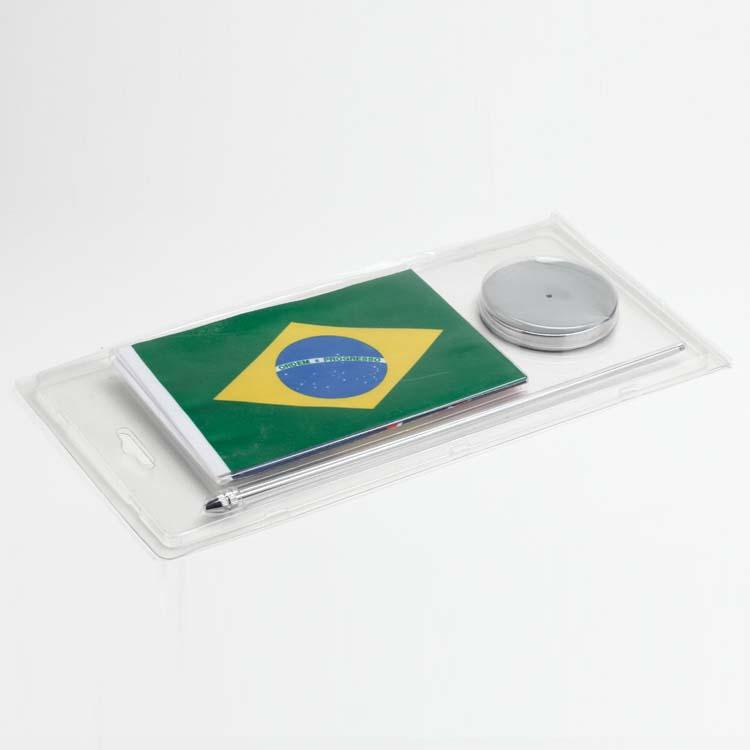 Conditionnement sous blister du drapeau  du brésil