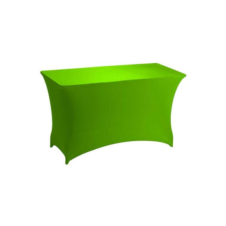 Housse stretch vert pour table pliante rect. 122 x 76 cm